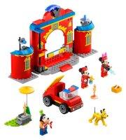 Mickys Feuerwehrstation und Feuerwehrauto